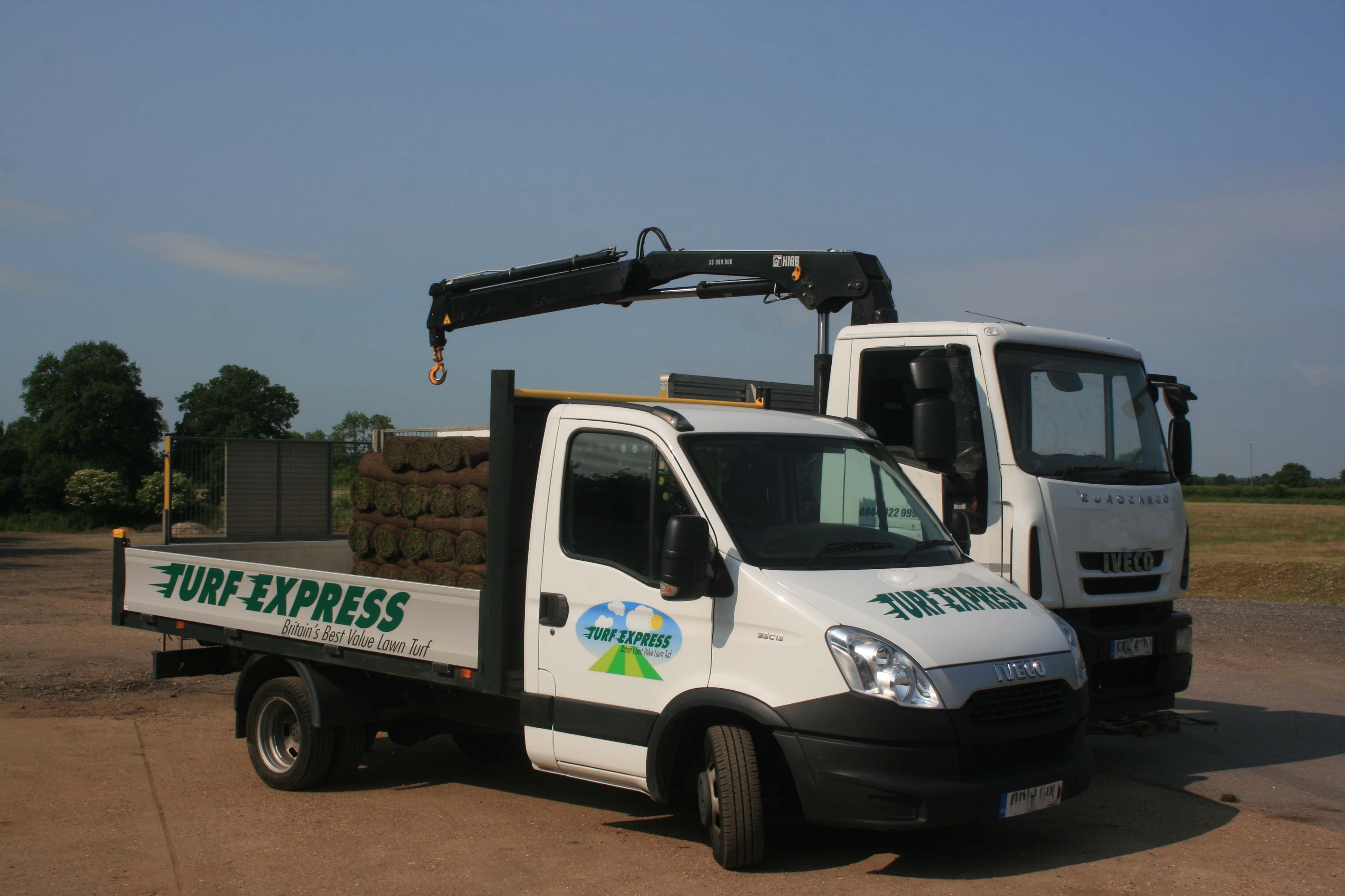 Turf Express Delivery Truck