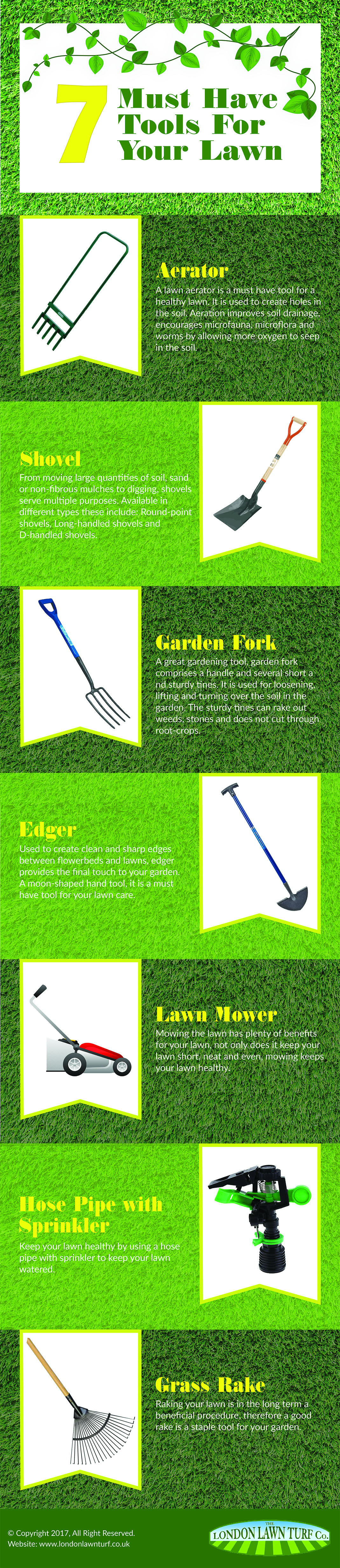 7 Must Have Tools For Your Lawn